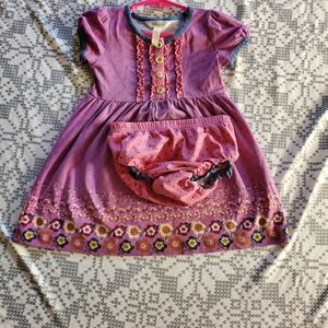 Purple floral dress with diaper cover